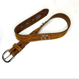 Justin Boots Youth Leather Belt Size 22